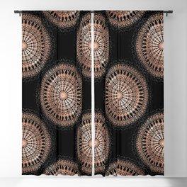 Rose Gold Black Mandala Blackout Curtain