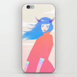 Girl with Horns iPhone Skin