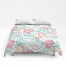 Pastel Fruits Comforters