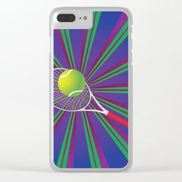 Tennis Ball and Racket Clear iPhone Case