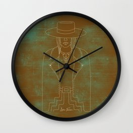 Lady Outlaw Rust & Distressed Turquoise Wall Clock