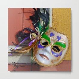 New Orleans Mardi Gras Mask Metal Print