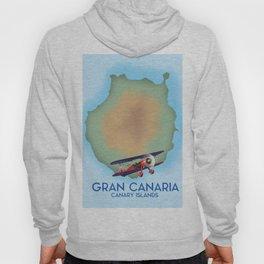 Gran Canaria canary island, travel poster Hoody