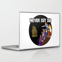 the goonies Laptop & iPad Skins featuring Goonies Never Say Die by Darth Paul