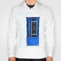 greek Hoodies featuring Greek Blue by Steve P Outram