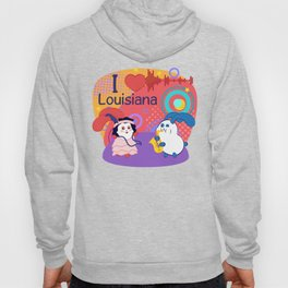 Ernest and Coraline | I love Louisiana Hoody