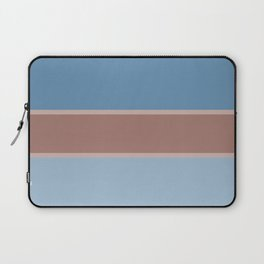 Brown-blue stripe Laptop Sleeve