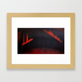 Times End Framed Art Print