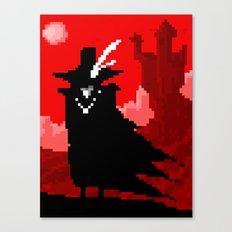 Vampire Hunter D on Pixel Canvas Print