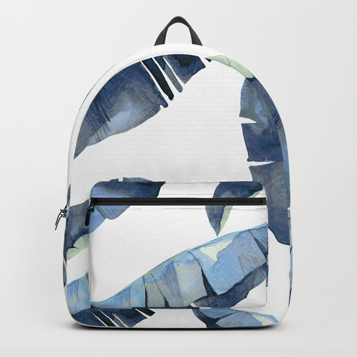 Banana Leaves 2 Blue Backpack