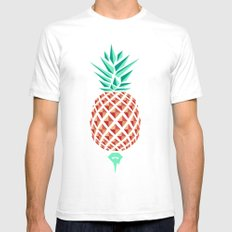 Sobriquet Pineapple. White SMALL Mens Fitted Tee