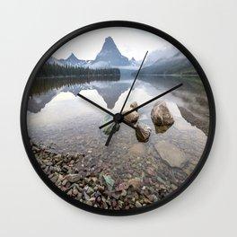 Rocky Lake Mountains Wall Clock