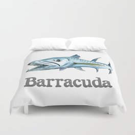 B is for Barracuda Duvet Cover
