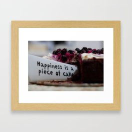 Happiness is Cake Framed Art Print