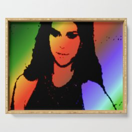 Ms. Gomez Serving Tray