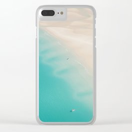 Teal Sands Clear iPhone Case