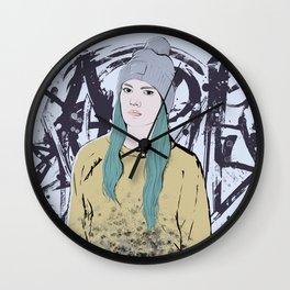 Graffiti Girl Wall Clock