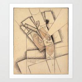 Juan Gris (1887–1927), The Smoker Art Print