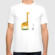 Too Tall To Talk Mens Fitted Tee MEDIUM White