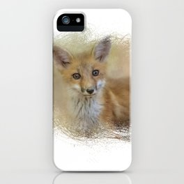 Curious Red Fox iPhone Case