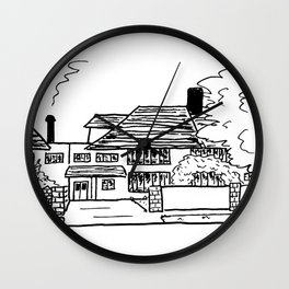Cozy Home in Fine Liner Wall Clock