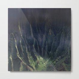Breathtaking Hawaii Hanging Over Coastal Cliffs Metal Print
