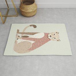 Whimsical Cheetah Rug