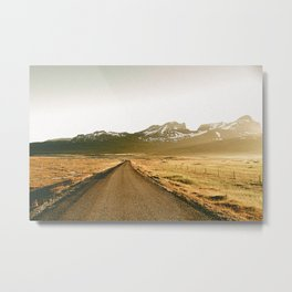On the Road V / Iceland Metal Print