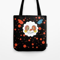 madoka magica Tote Bags featuring Charlotte - Madoka Magica by gallery pieces