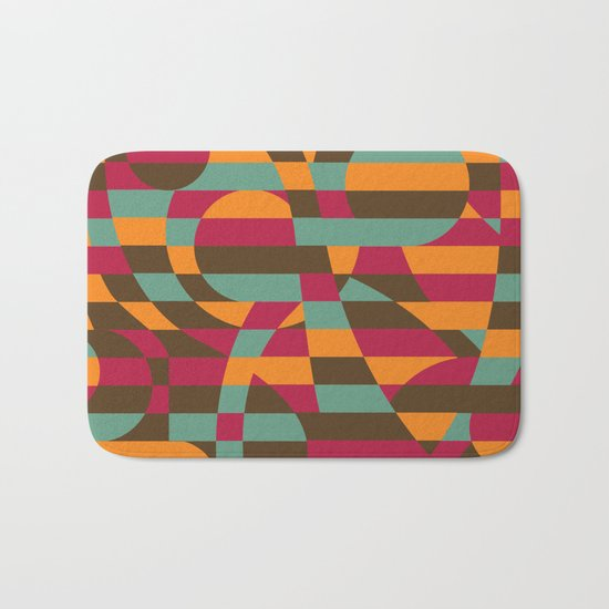 Abstract Graphic Art - Roller Coaster Bath Mat
