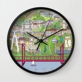 Lisbon City Poster Wall Clock
