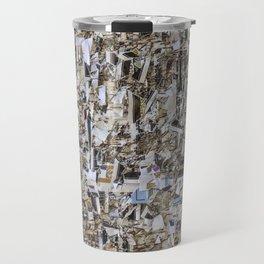 Texture of paper shredded wall Travel Mug