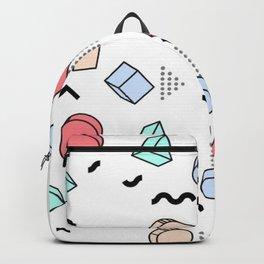 OLD SCHOOL PASTEL RETRO PATTERN Backpack