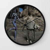sci fi Wall Clocks featuring Sci-Fi Fantasy  by gypsykissphotography