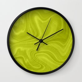 Chartreuse Swirl Marble Wall Clock