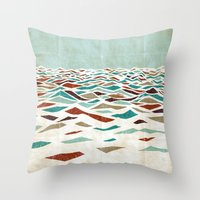 positive Throw Pillows featuring Sea Recollection by Efi Tolia