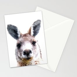 Kangaroo Portrait Stationery Cards