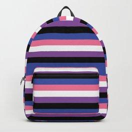 gender fluid flag lasoffittadiste Backpack