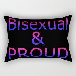 Bisexual and Proud (black bg) Rectangular Pillow