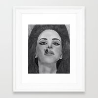 lana del rey Framed Art Prints featuring Lana  by Char Stefanski