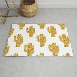 Cactus | Rustic Gold | Southwest Decor Pattern Rug
