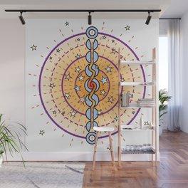 Cosmic Engine Mandala Color Wall Mural
