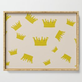 peach crowns Serving Tray