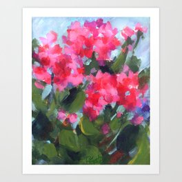 Bright Geraniums Art Print