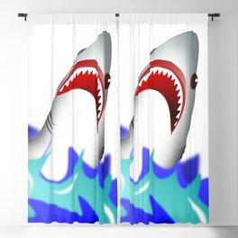 Shark attack wave danger dangerous Blackout Curtain