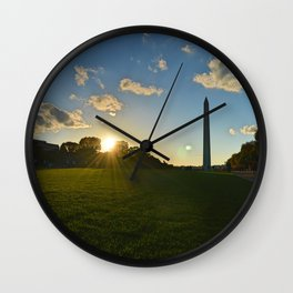 Monument Sunset Wall Clock