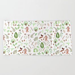 Nature Pattern Beach Towel