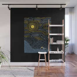 Surf Line Wall Mural
