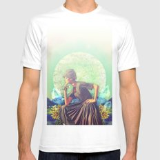 The Thinker Mens Fitted Tee White MEDIUM