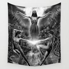 VI. The Lovers Tarot Illustration Wall Tapestry